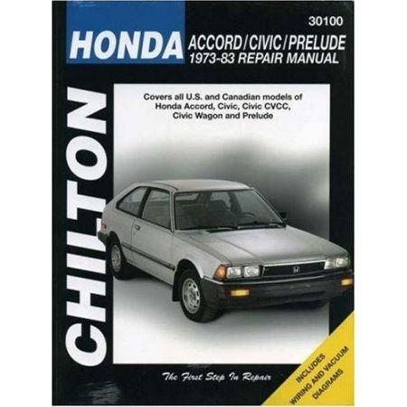 Accord, Civic & Prelude 73-83 Revue technique Chilton HONDA Anglais