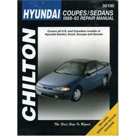 Coupes & Sedans 86-93 Revue technique Chilton HYUNDAI Anglais