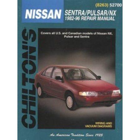 Sentra, Pulsar & NX 82-96 Revue technique Chilton NISSAN Anglais