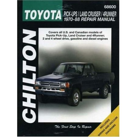 Pick-ups, Land Cruiser & 4Runner 70-88 Revue technique Chilton TOYOTA Anglais