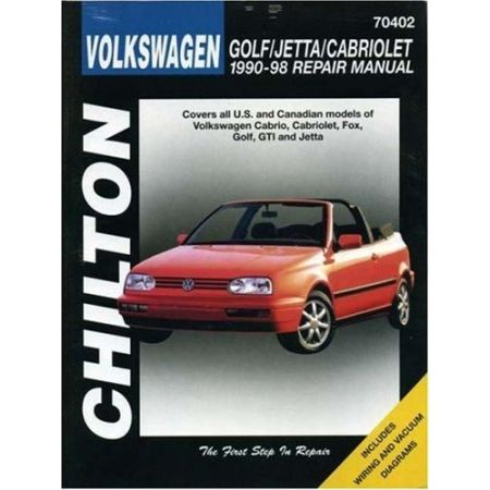 Golf & Jetta & Cabriolet 90-98 Revue technique Chilton VW Anglais