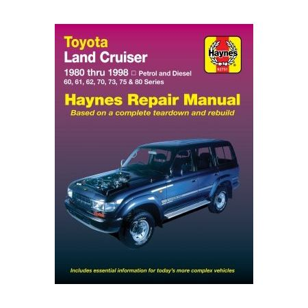 Land Cruiser Diesel 80-98 Revue technique Haynes TOYOTA Anglais