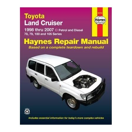 Land Cruiser 98-07 Revue technique Haynes TOYOTA Anglais