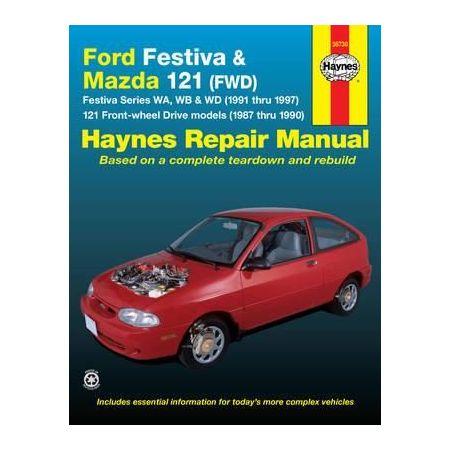Festiva 91-97 & 121 87-90 Revue technique Haynes FORD MAZDA Anglais