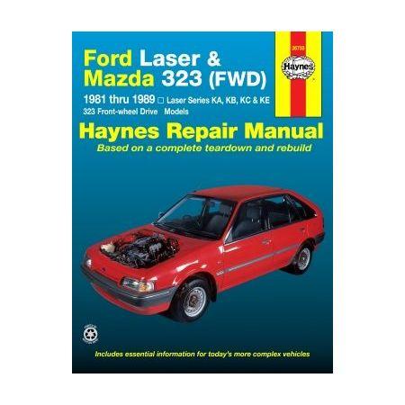 Laser & 323 81-89 Revue technique Haynes FORD MAZDA Anglais