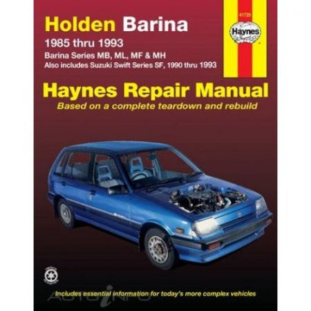 Barina & Swift 85-93 Revue technique Haynes HOLDEN OPEL SUZUKI Anglais