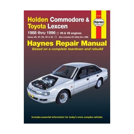 Commodore 88-96 & Lexcen 89-97 Revue technique Haynes HOLDEN OPEL TOYOTA Anglais