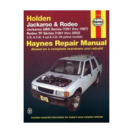 Jackaroo Petrol 91-97 & Rodeo Petrol 91-02 Revue technique Haynes HOLDEN OPEL Anglais