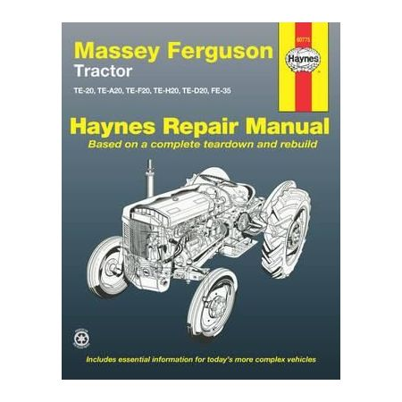 Tractors Revue technique Haynes MASSEY-FERGUSON Anglais