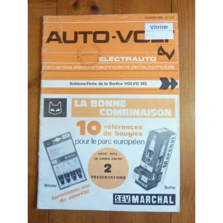 343 Revue Technique Electronic Auto Volt Volvo