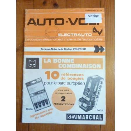 343 Revue Technique Electronic Auto Volt Volvo