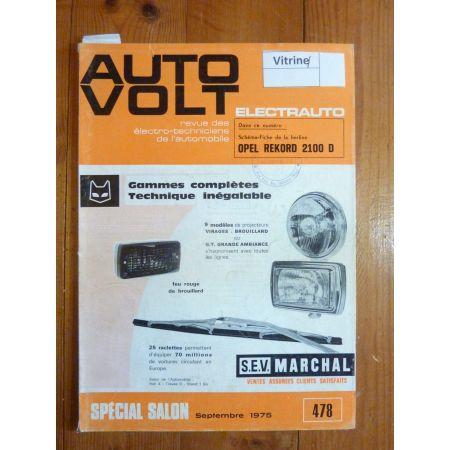Rekord 2100D Revue Technique Electronic Auto Volt Opel