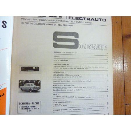 1000 Rallye I II Revue Technique Electronic Auto Volt Talbot Simca