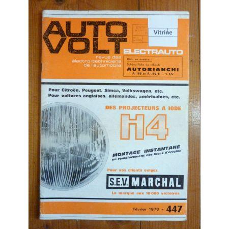 A112 Revue Technique Electronic Auto Volt Autobianchi