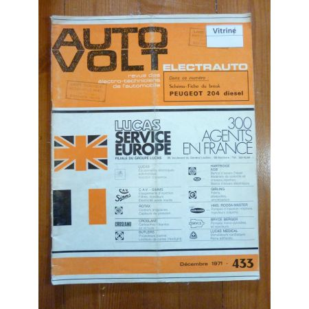 204 Die Revue Technique Electronic Auto Volt Peugeot