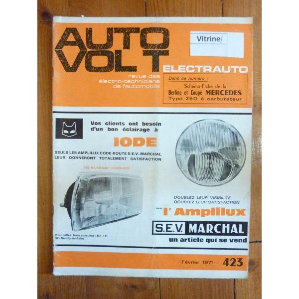 1000 4-5-6cv Revue Technique Electronic Auto Volt Talbot Simca