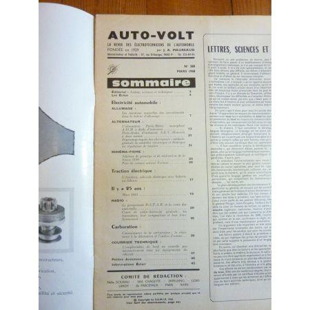 1100 Revue Technique Electronic Auto Volt Talbot Simca