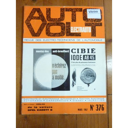 Kadett B Revue Technique Electronic Auto Volt Opel