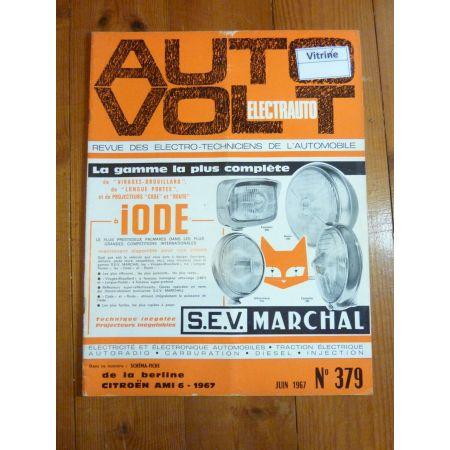 AMI 6 1967 Revue Technique Electronic Auto Volt Citroen