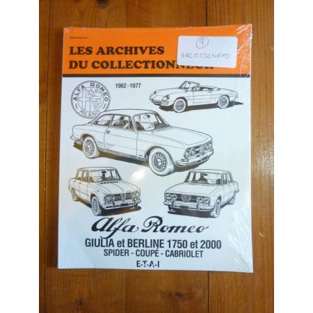 Giulia 62-77 Revue Technique Les Archives Du Collectionneur Alfa