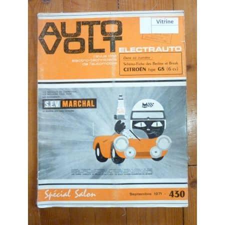 GS 6cv Revue Technique Electronic Auto Volt Citroen