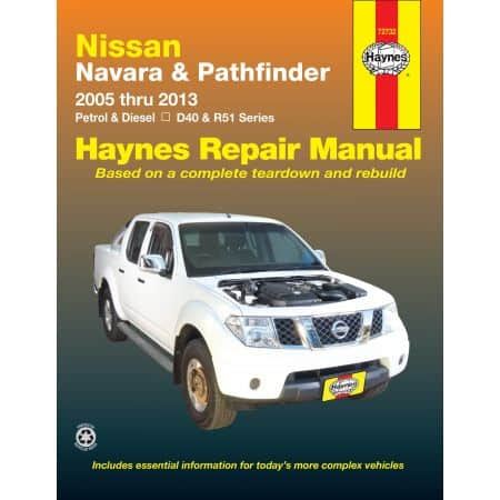 Navara D40 & Pathfinder R51 05-13 Revue technique Haynes NISSAN Anglais