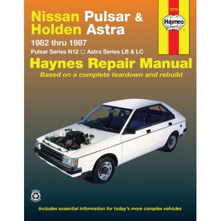 Pulsar 82-87 & Astra 84-86 Revue technique Haynes HOLDEN NISSAN Anglais