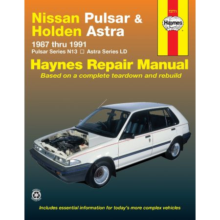 Pulsar 87-91 & Astra 87-89 Revue technique Haynes HOLDEN NISSAN Anglais