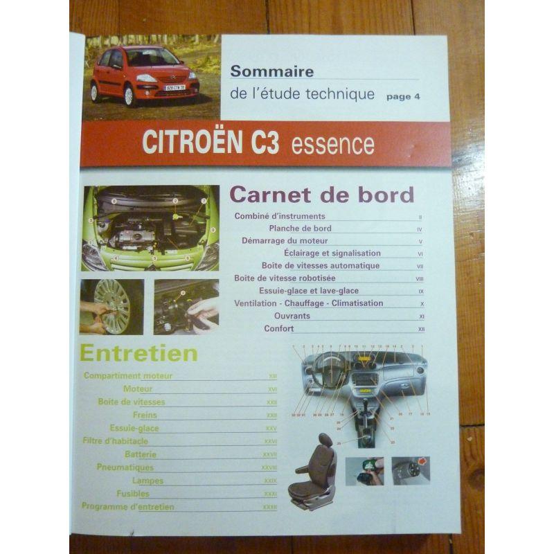 citroen c3 de 04 2002 jusqu 39 a fin de fabrication essence 1 1 8v 1 4 8v 1 6 16v diesel hdi. Black Bedroom Furniture Sets. Home Design Ideas