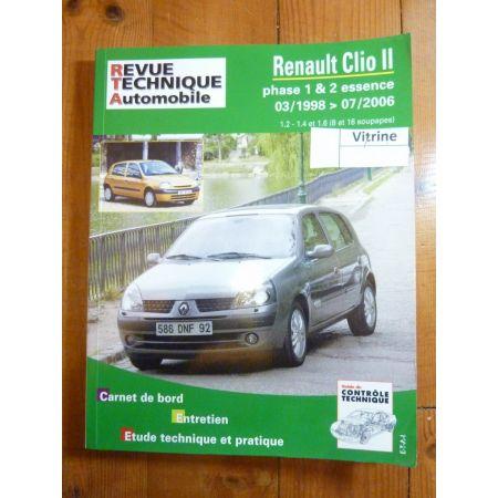 Clio II Ess 98-06 Revue Technique Renault