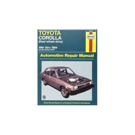 Corolla (RWD) 81-84 Revue technique Haynes TOYOTA Anglais