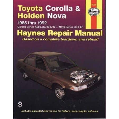 Corolla & Nova 85-92 Revue technique Haynes TOYOTA HOLDEN Anglais