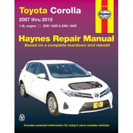 Corolla 07-15 Revue technique Haynes TOYOTA Anglais