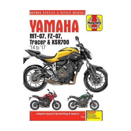 MT-07, Tracer & XSR700 14- 17 Revue technique Haynes YAMAHA Anglais