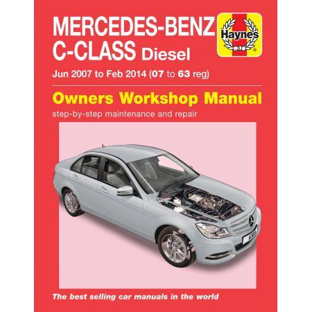 C-Class Diesel 07-14 Revue technique Haynes MERCEDES Anglais