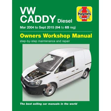 Caddy Diesel 03/04-09/15 Revue technique Haynes VW Anglais
