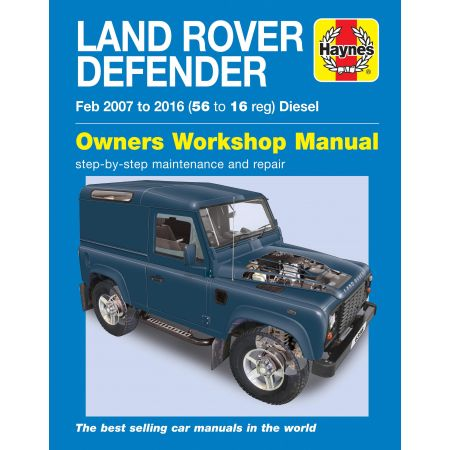 Defender Diesel 07-16 Revue technique Haynes LAND-ROVER Anglais