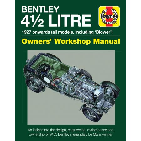 4.5-litre Bentley Owner Manual Anglais