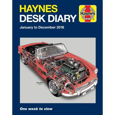 2018 Desk Diary Haynes Anglais