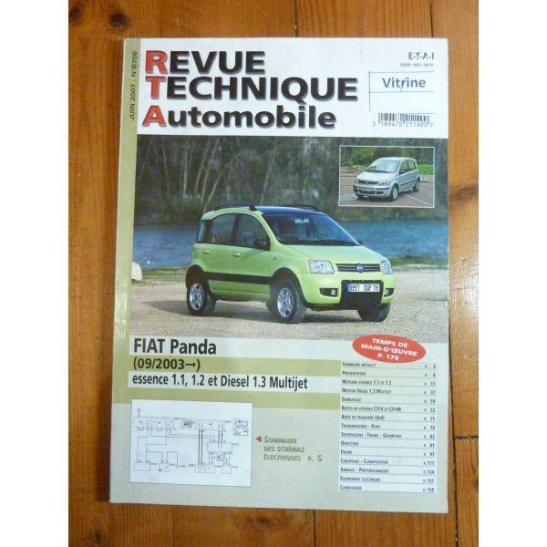 rta revue technique fiat panda essence et et diesel multijet partir de 09 2003. Black Bedroom Furniture Sets. Home Design Ideas