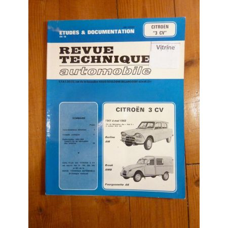 AMI 6 61-68 Revue Technique Citroen