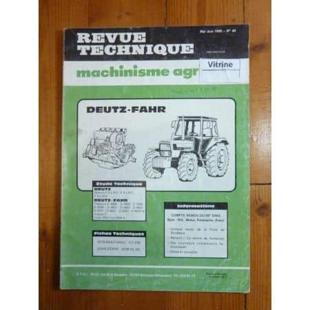 D4006 à D6507 Revue Technique Agricole Deutz Fahr