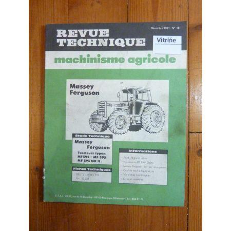MF592 MF595 Revue Technique Agricole Massey Ferguson