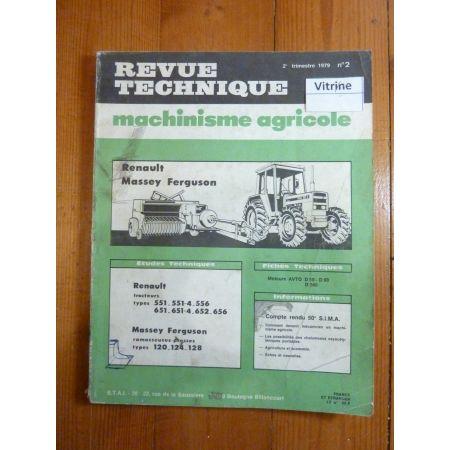 551 651 652 656 120 124 128 Revue Technique Agricole Massey Ferguson
