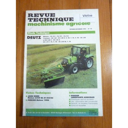 DX3.50 à DX3.90 Revue Technique Agricole Deutz Fahr