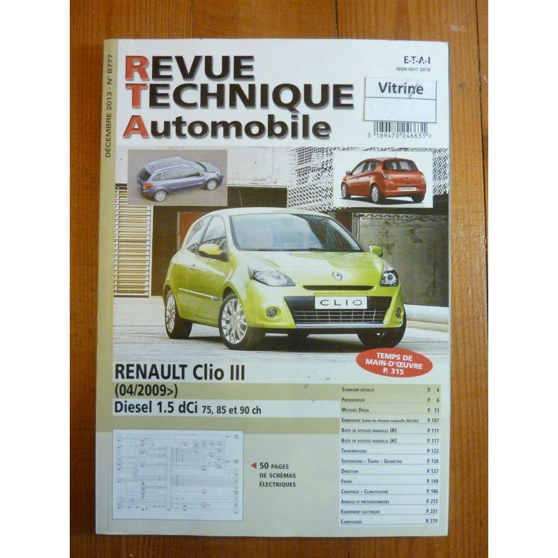 renault clio iii phase 2 depuis 04 2009 diesel 1 5 dci 75. Black Bedroom Furniture Sets. Home Design Ideas