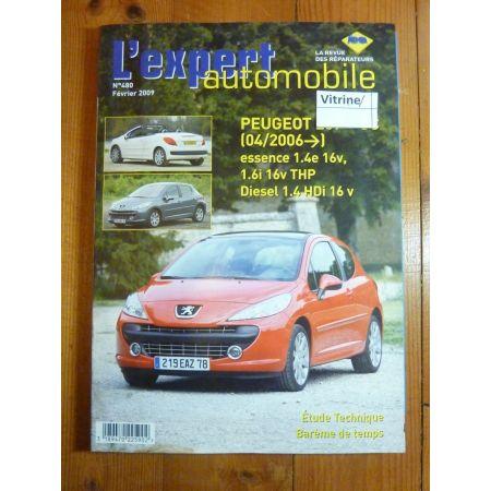 PEUGEOT 207+ CC depuis 04/2006 Essence 1.4e 16V, 1.6i 16v THP, Diesel 1.4 HDi 16v