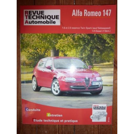 rta revue technique alfa romeo 147 1 6 et 2 0 essence twinspark sauf selesspeed et 1 9 diesel. Black Bedroom Furniture Sets. Home Design Ideas
