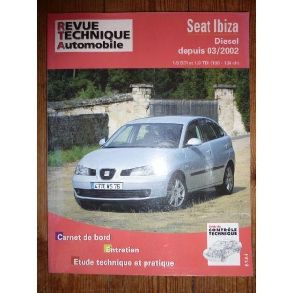 rta revue technique seat ibiza diesel depuis 03 2002 1 9sdi et 1 9 tdi 100cv et 130cv. Black Bedroom Furniture Sets. Home Design Ideas