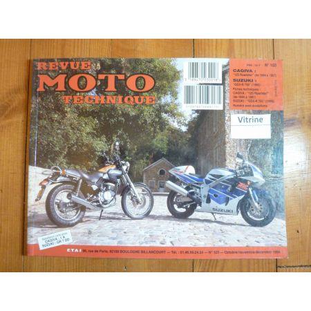 125 Roadster GSXR750 Revue Technique moto Cagiva Suzuki
